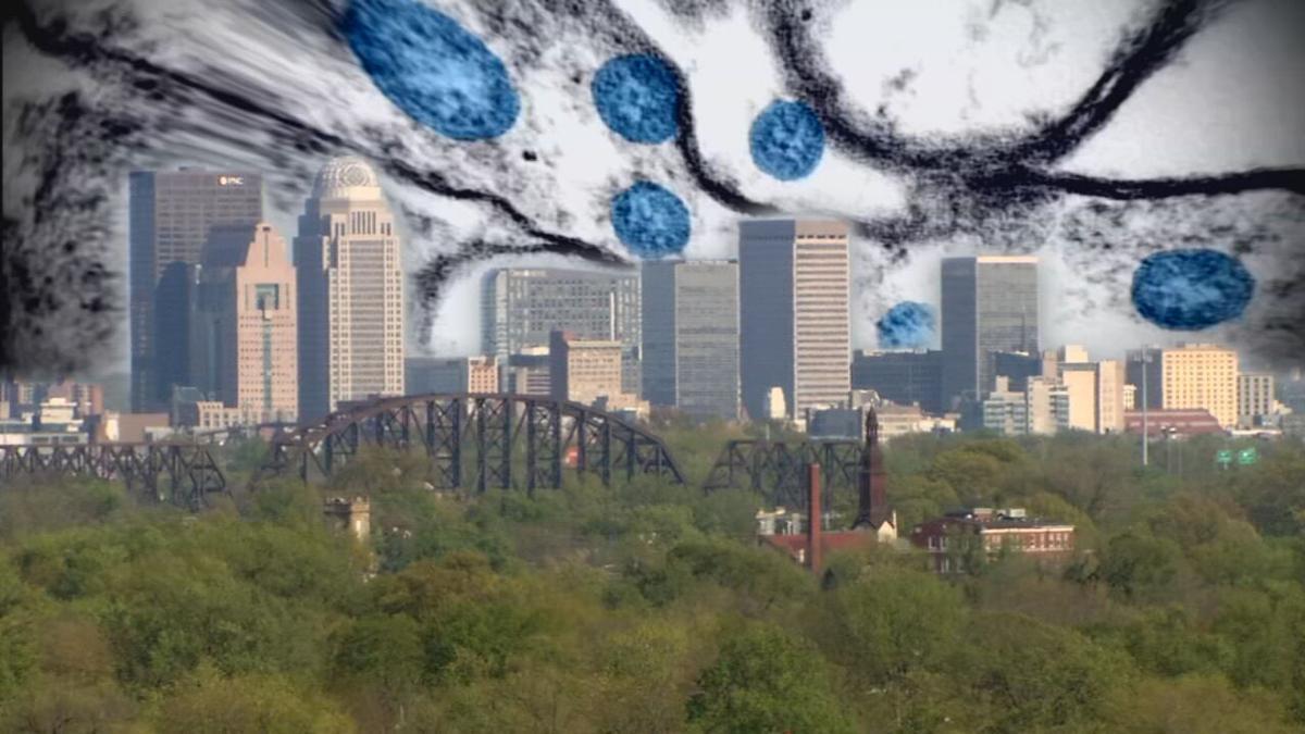 COVID-19 in Louisville skyline