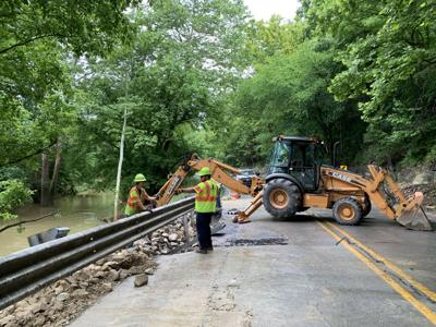 Water causes part of State Road 56 to collapse