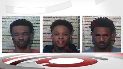 Gabriel Williams, Devon Sandusky and Dakeyione Jackson (Frankfort robbery suspects) 2-24-19