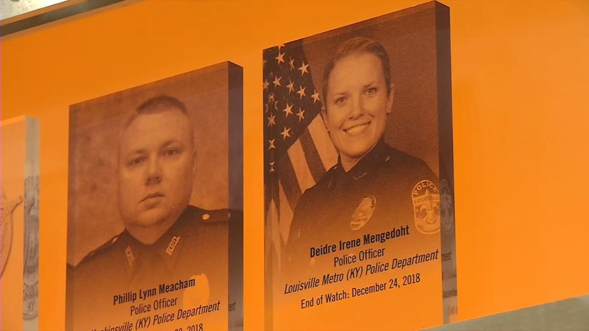LMPD Det. Deidre Mengedoht memorial inside the Hall of Remembrance at Washington's National Law Enforcement Museum
