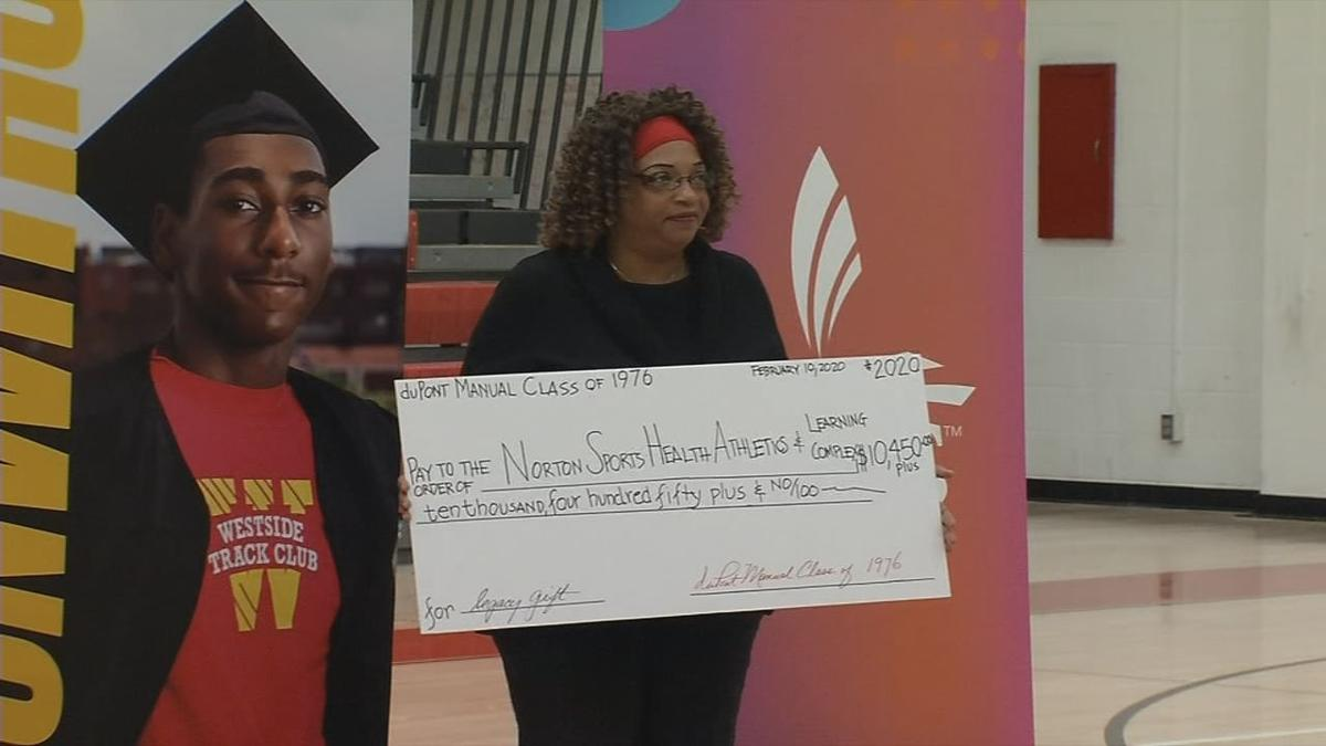 Manual High School Class of 1976 donation to Louisville Urban League's Sports and Learning Complex
