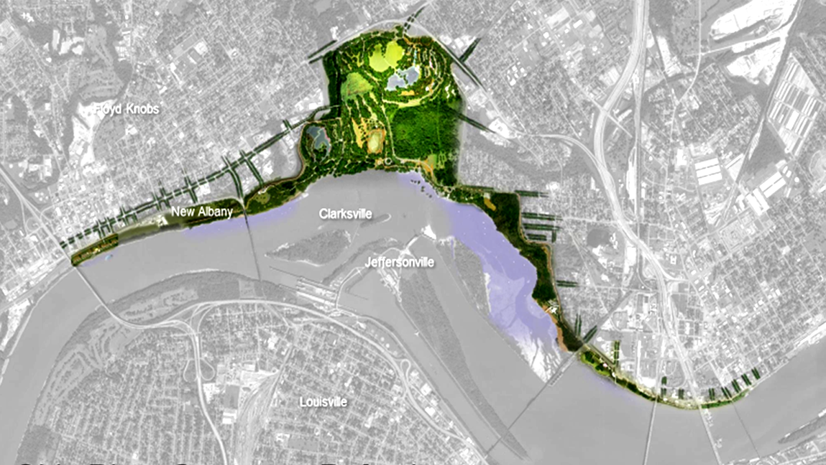 Proposed Indiana riverfront park