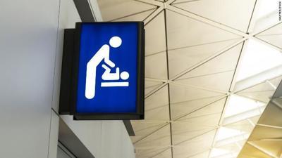 Men's restroom changing stations