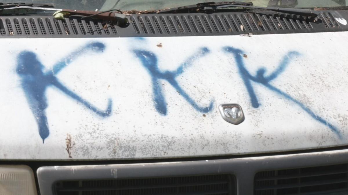 Vandalism at the Campbellsburg, Indiana, home of Brenda Wheat