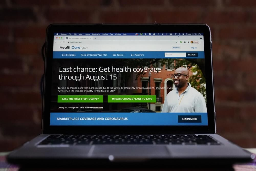 Health coverage signup screen