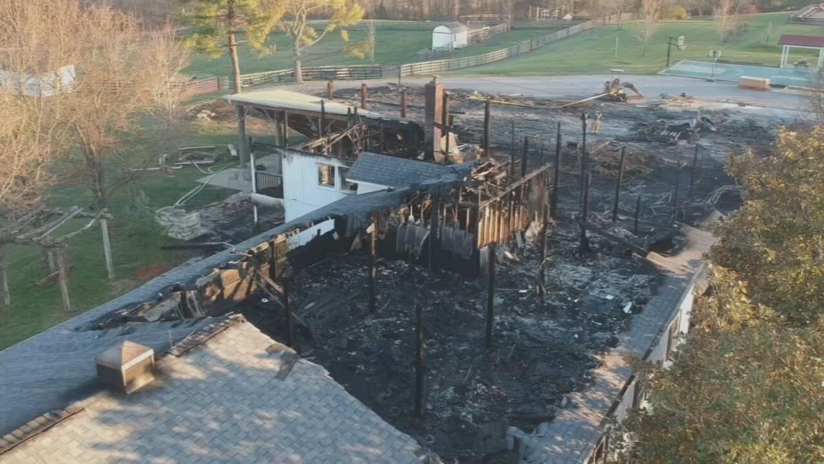 Camp Hi-Ho fire drone footage