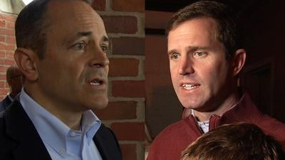 Ky. Governor Matt Bevin and Attorney General Andy Beshear on Election Day, Nov. 5, 2019
