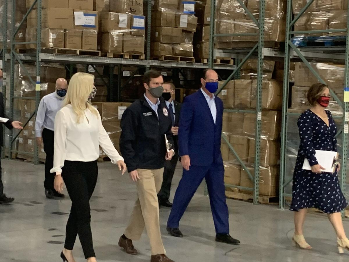 Gov. Andy Beshear tours PPE warehouse