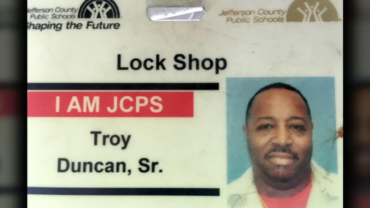 Troy Duncan Sr. JCPS ID badge