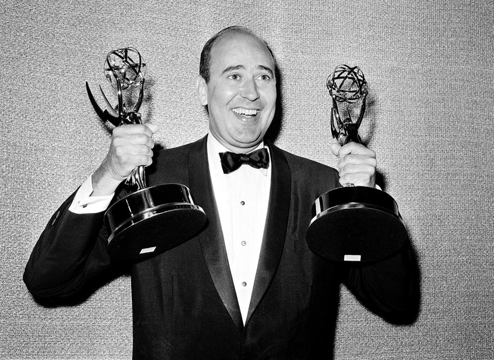 Carl Reiner with awards