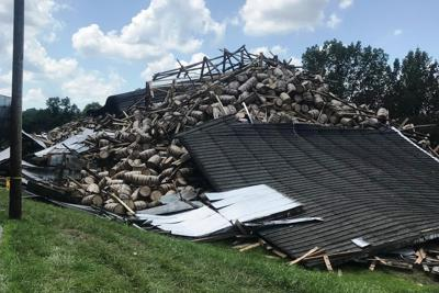 Remaining portion of Bardstown bourbon warehouse collapses