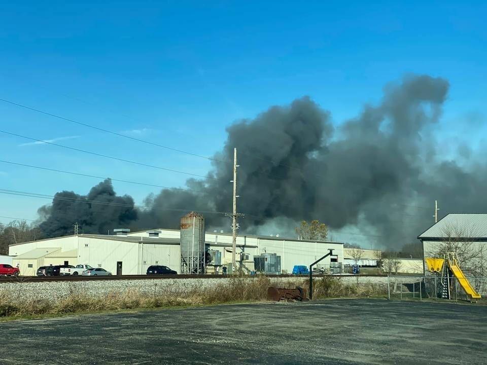 Nov. 19, 2020 fire a chemical plant in Scottsburg, Indiana