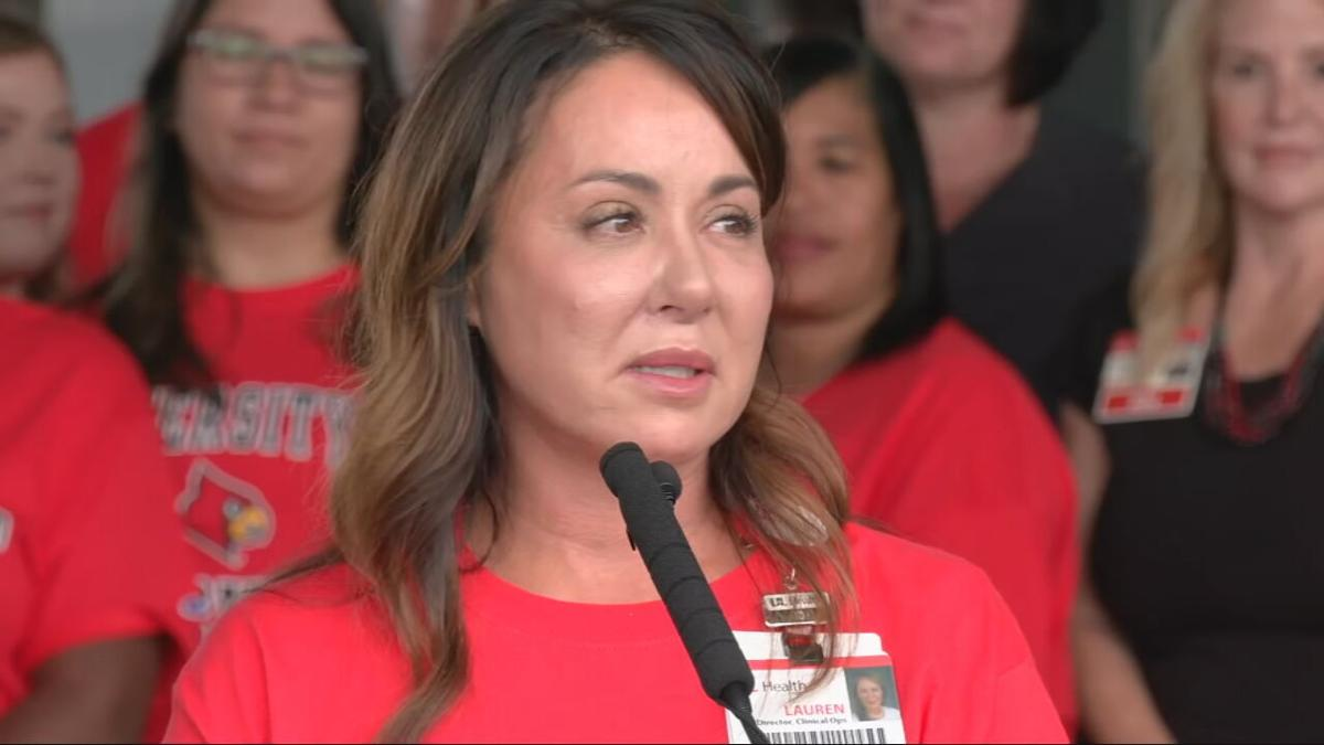 Lauren Hicks, a registered nurse for UofL Health