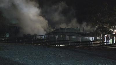 Prospect barn fire
