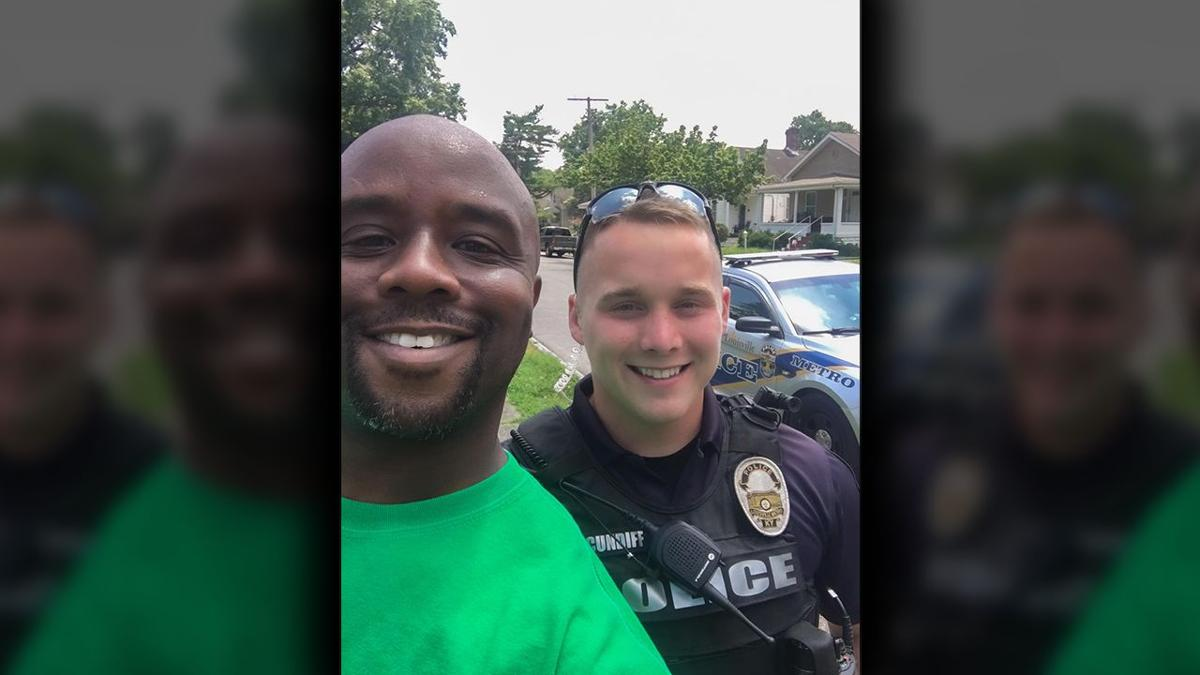Kevin Nelson and LMPD Officer Cundiff