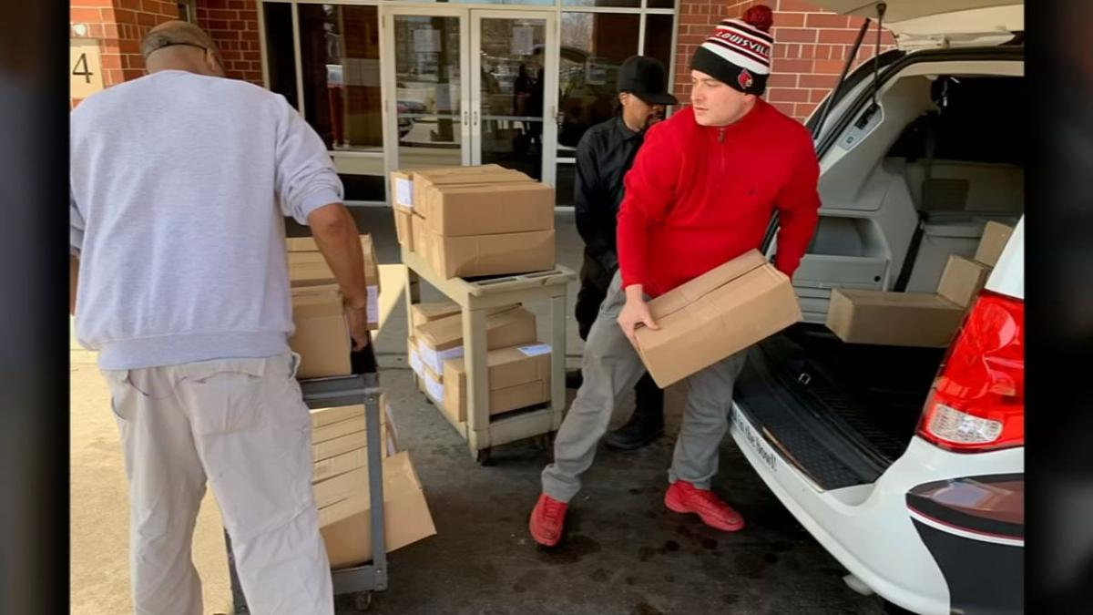 J. Gumbo's delivers food to Wayside Christian Mission