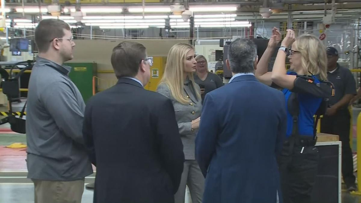 Ivanka Trump joins Gov. Bevin in tour of Toyota plant in Georgetown