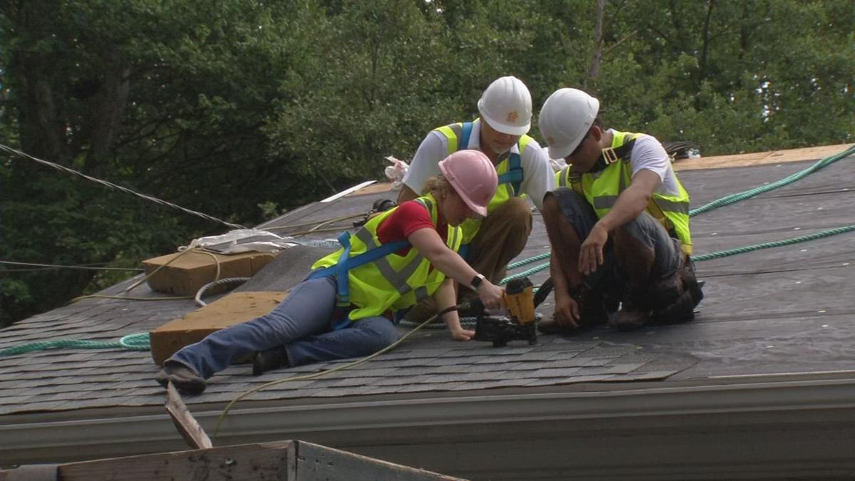Gina On The Job Learning The Challenges Of Being A Roofer