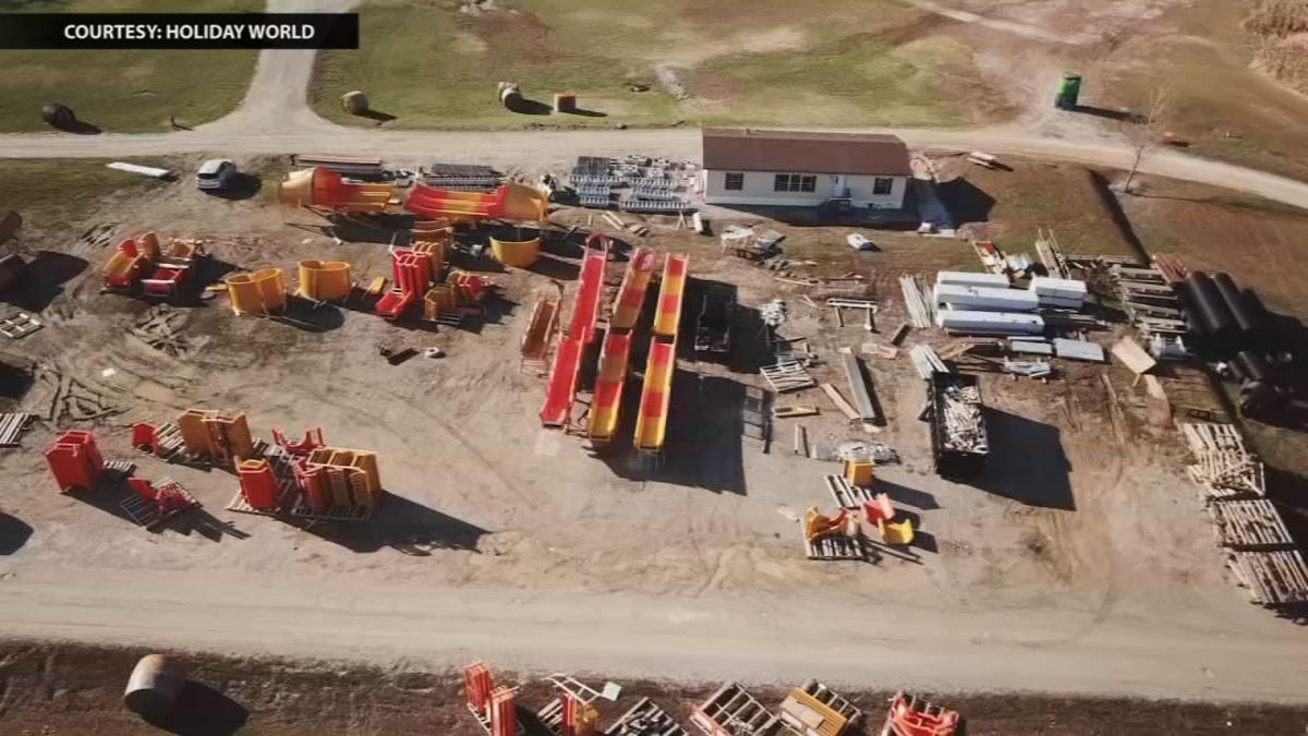 Holiday World Coaster Construction Site