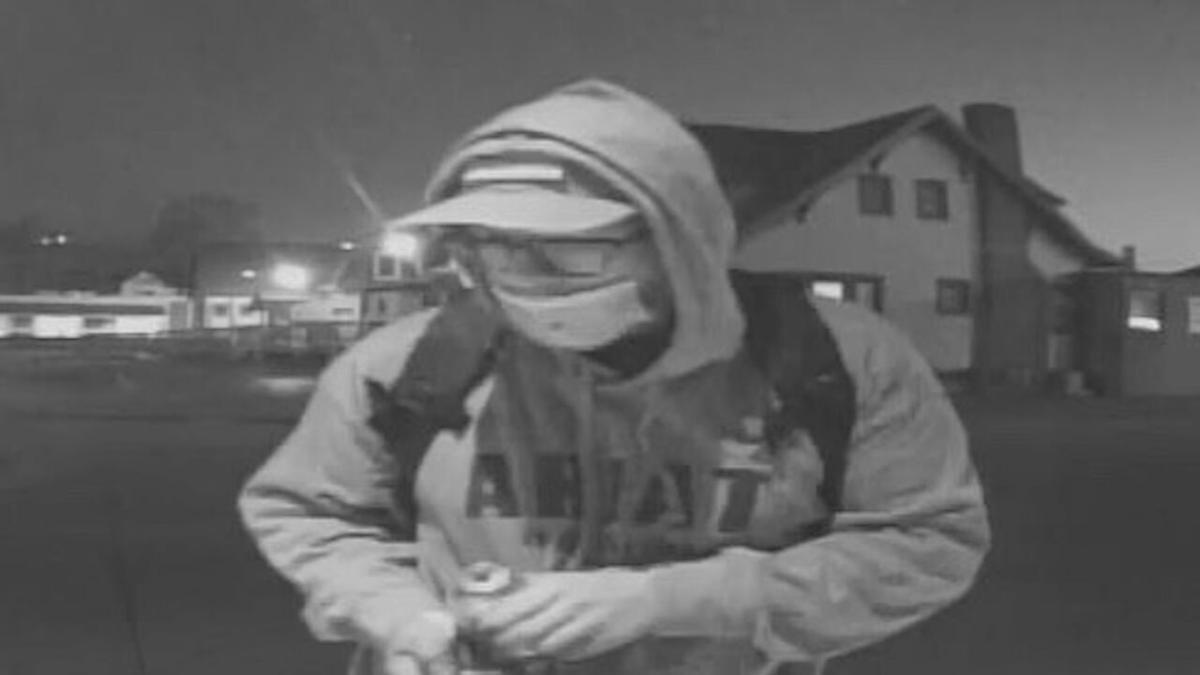 Graffiti Suspect in Columbus, Indiana