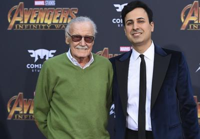 Stan Lee with Keya Morgan via AP