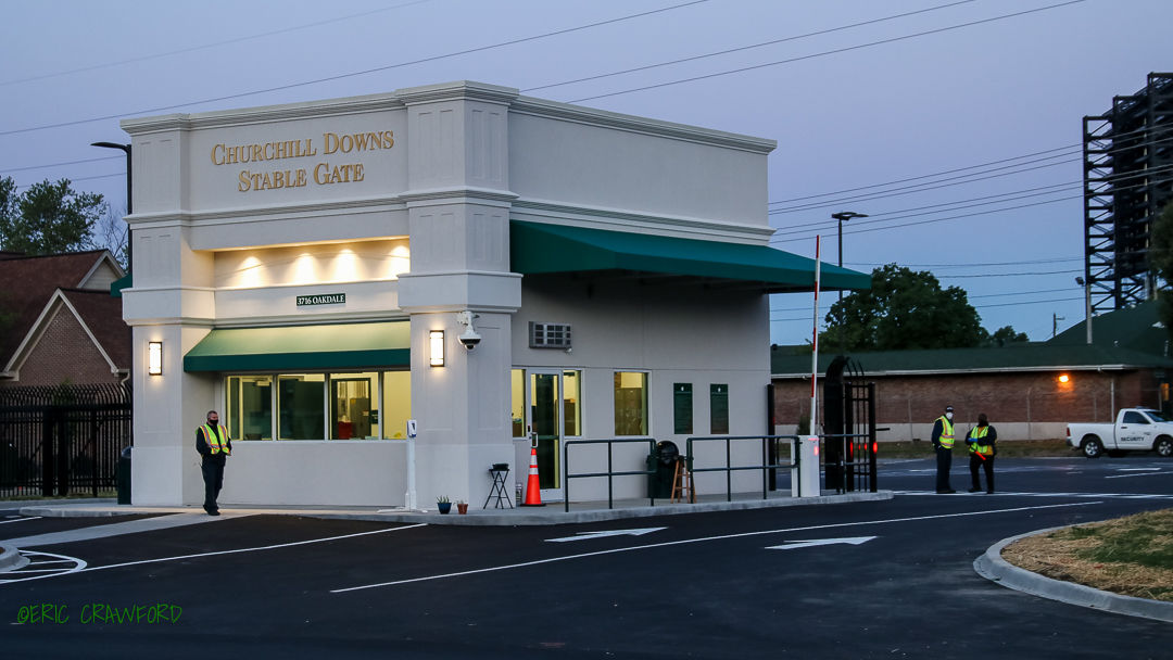Churchill Downs new stable gate