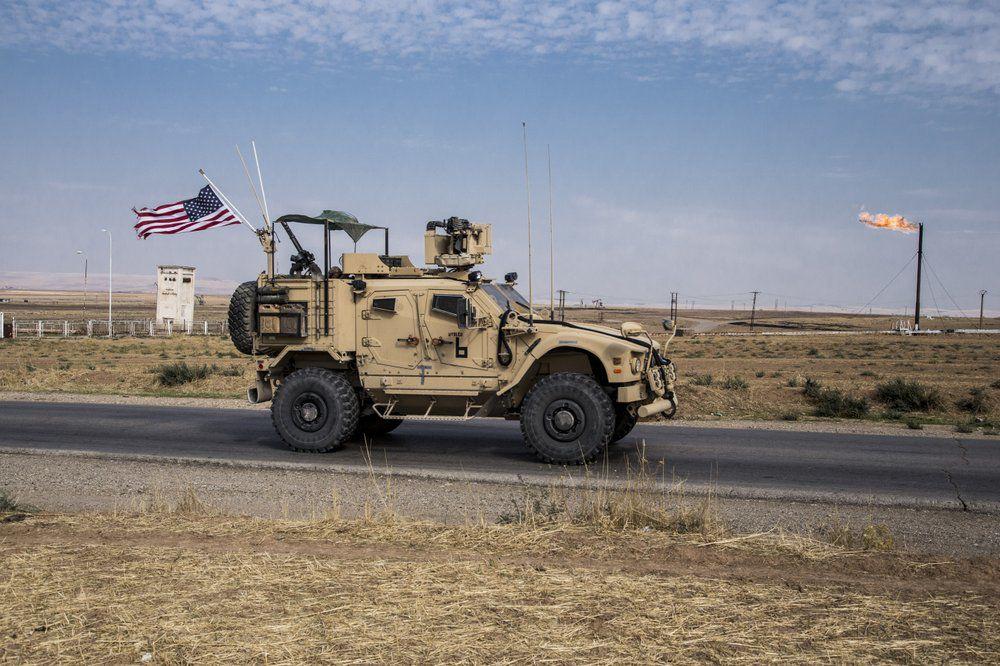 US troops patrol Syrian Oil Fields