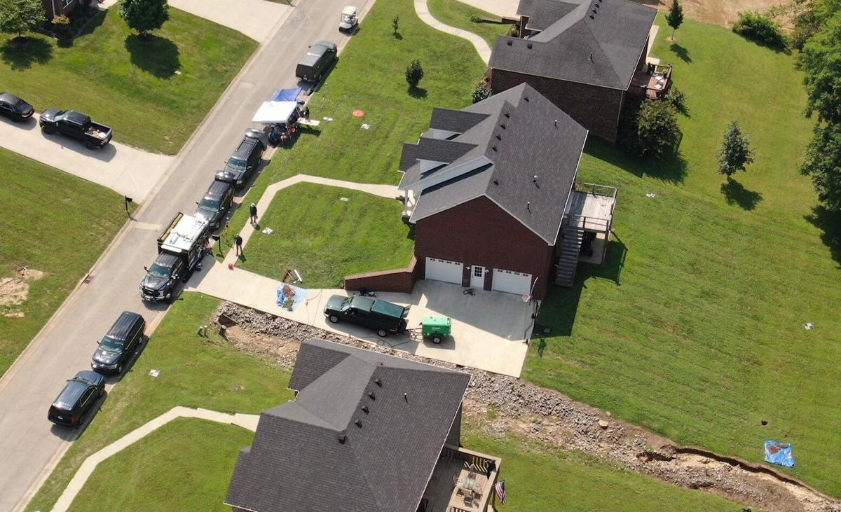 Aerial shot of Bardstown search