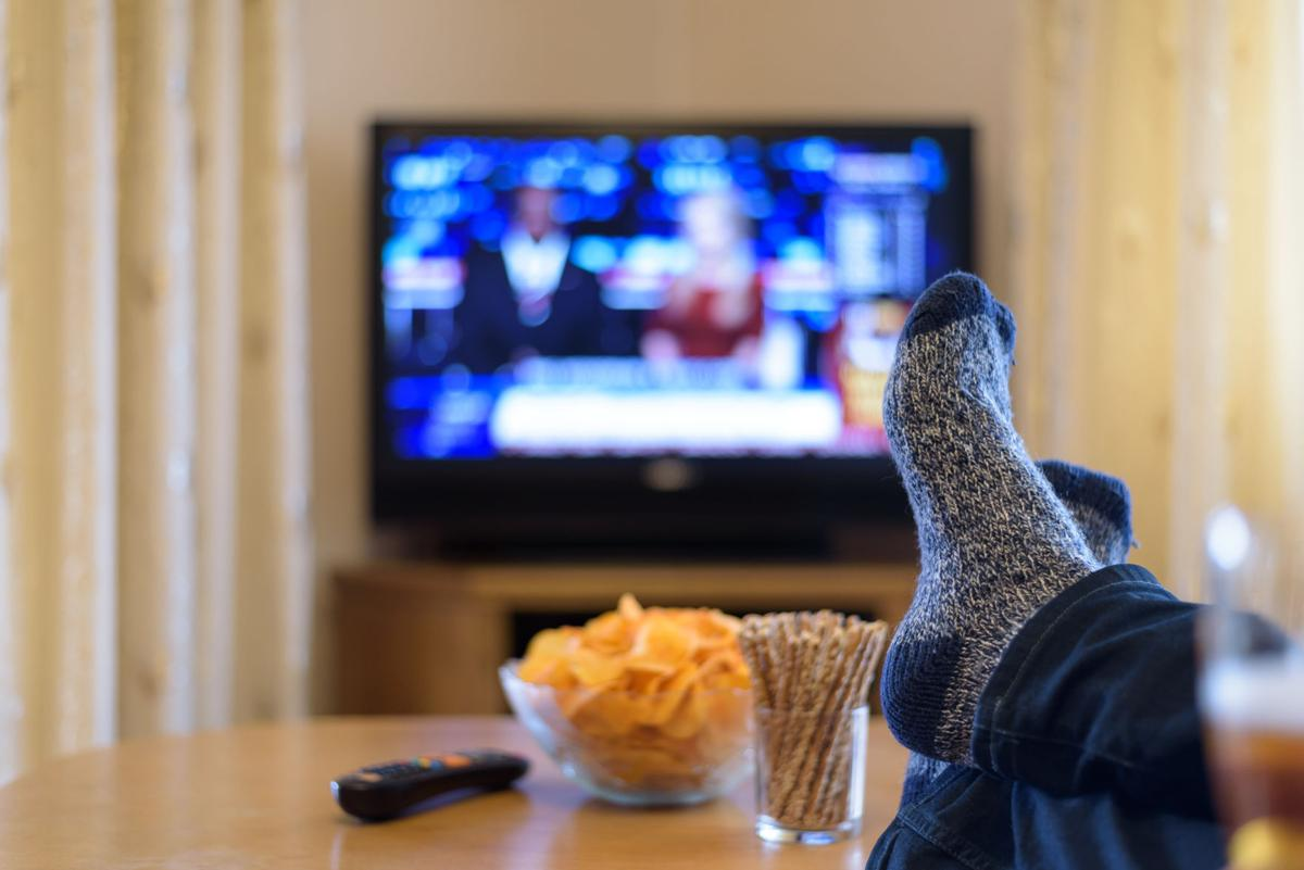WATCHING TV - TELEVISION - COUCH POTATO 1 - FROM WDRB ART