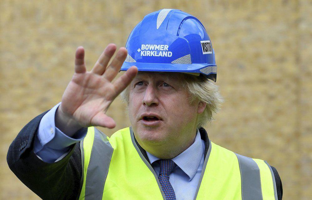 Boris Johnson visits construction site on 6-29-20