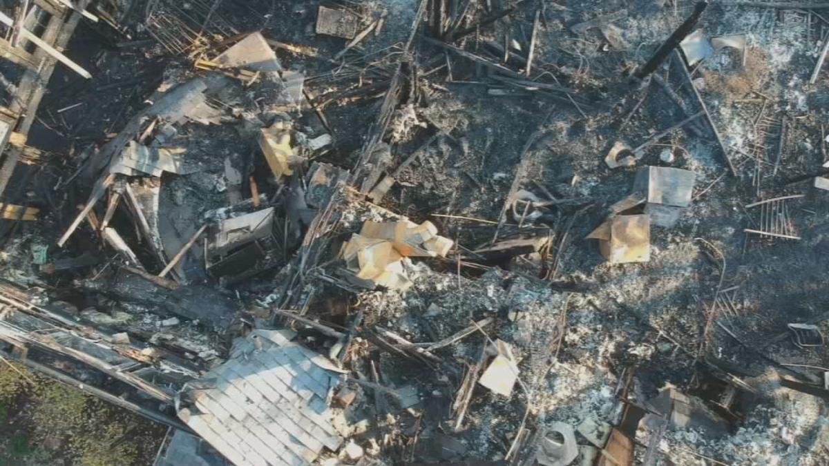 Camp Hi-Ho fire done footage