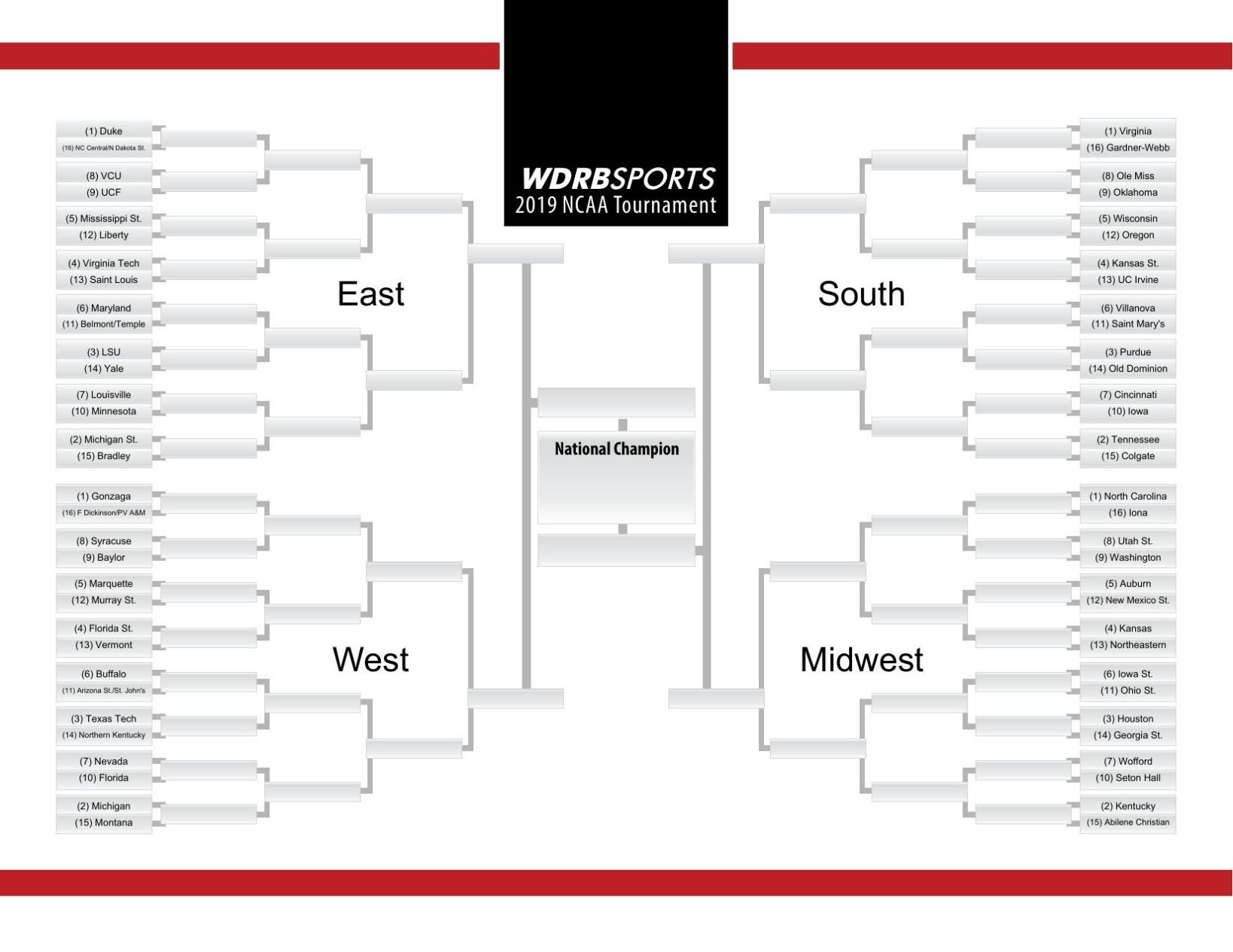 graphic about Printable Tournament Bracket known as PRINTABLE BRACKET Generate your NCAA Match options right here