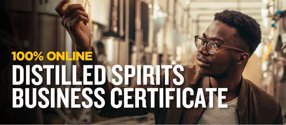Distilled spirits graduate certificate ad