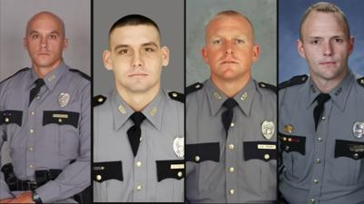 Troopers Jason Carpenter, Chad Peercy, Jonathan Sizemore and Sgt. Anthony Trotter