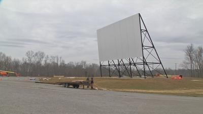 Oldham County Drive-In new screen (2.22.19)