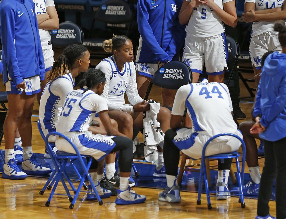 A somber Kentucky bench in the closing minutes of the second half