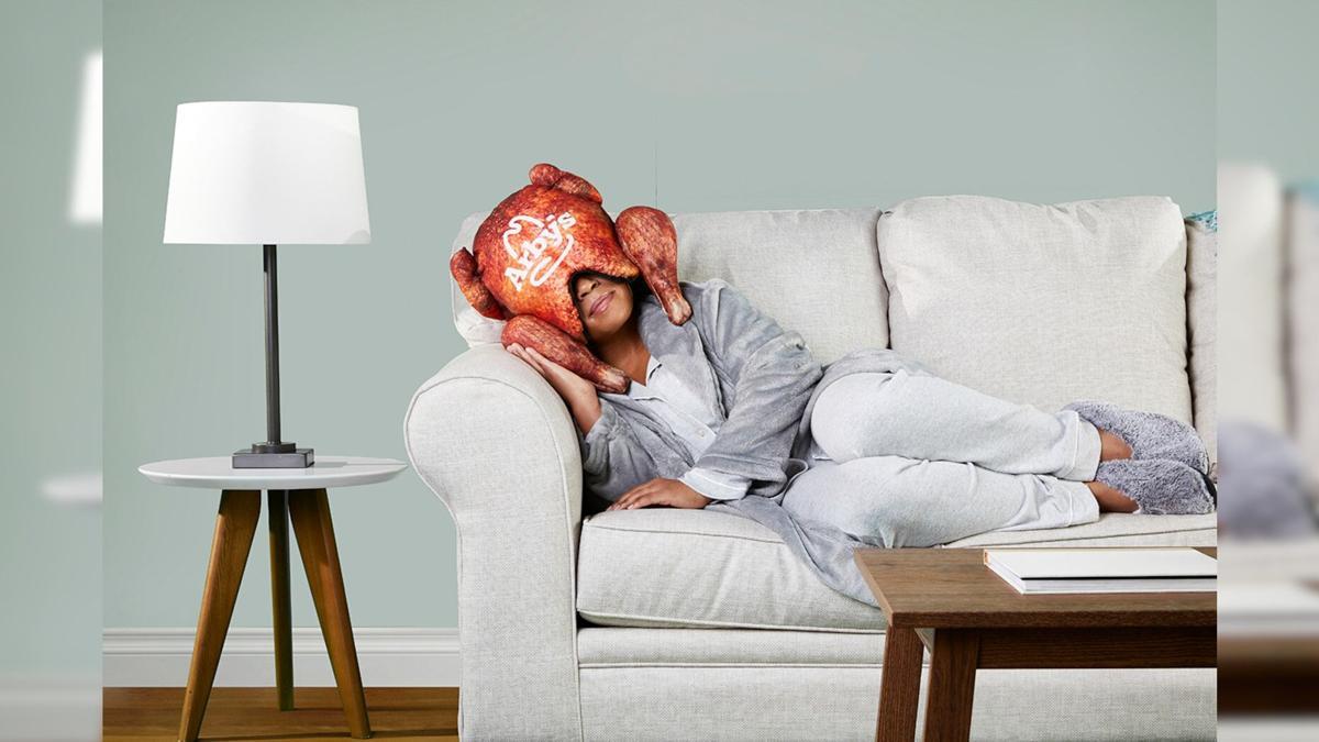 Arbys Turkey Pillow Hat