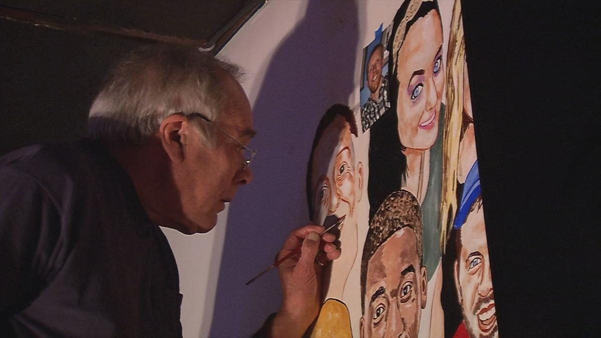 Meet The Artist Behind The Back Door S Mural Of Loyal Customers News Wdrb Com