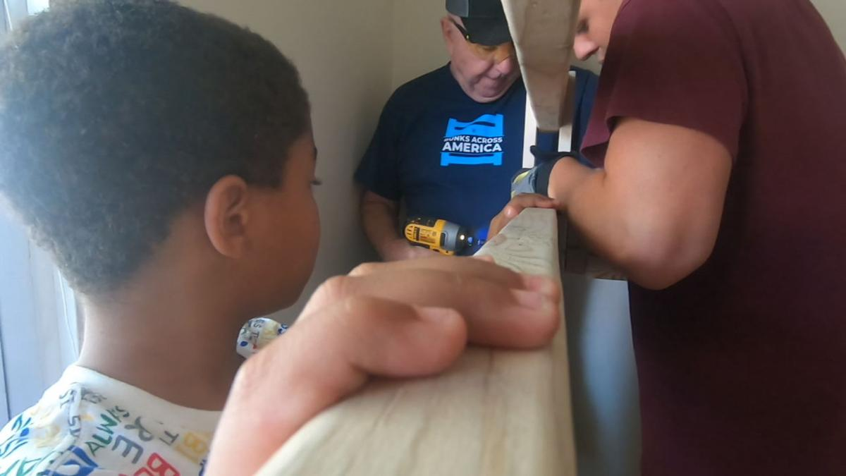 Louisville family builds beds for local kids in need as part of national initiative