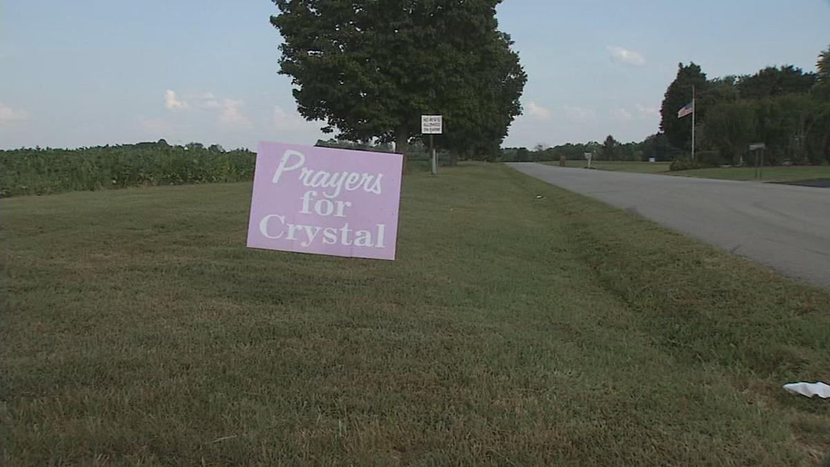Prayers for Crystal sign