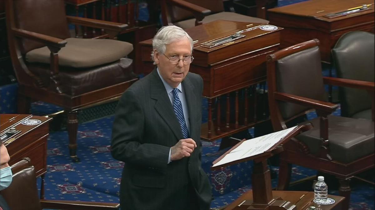 Mitch McConnell on Senate floor during Barrett confirmation