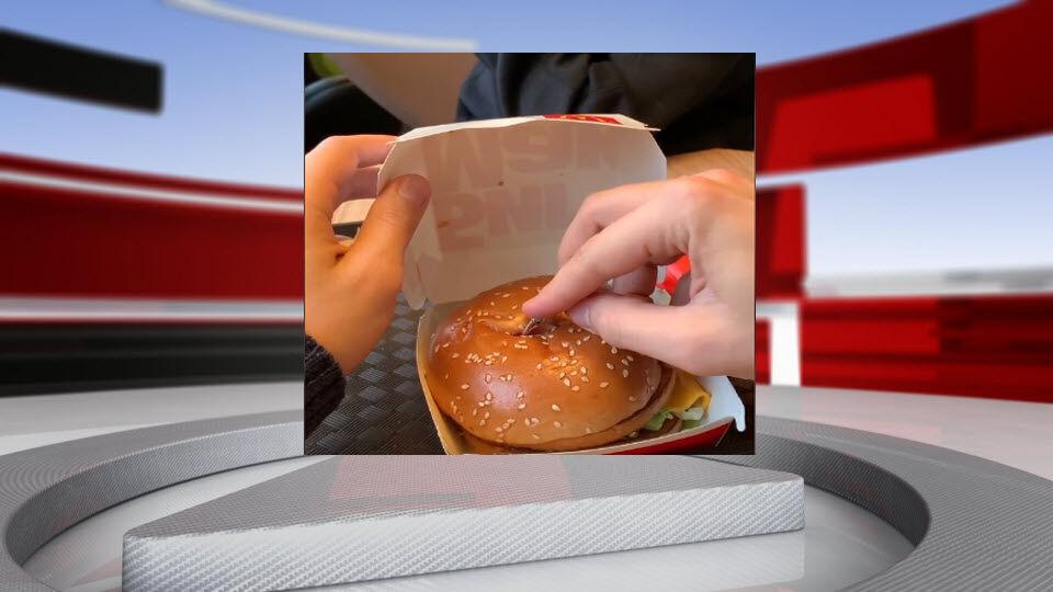 Ring in McDonald's Burger