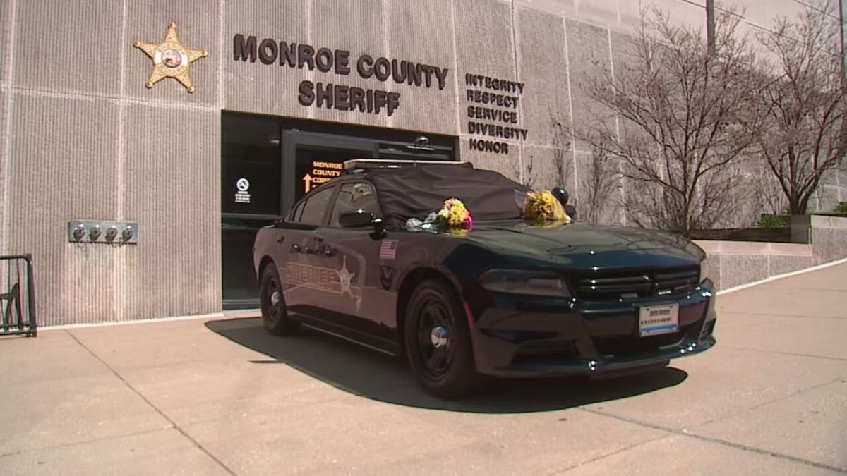 A memorial for Monroe County Deputy James A. Driver