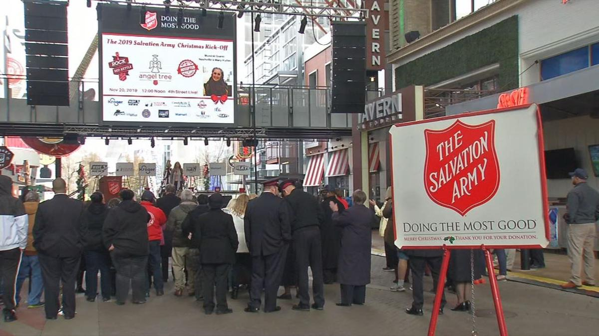 The Salvation Army kicks off Red Kettle Campaign at 4th Street Live! on Nov. 20, 2019
