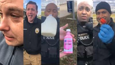 LMPD officers gulp down Carolina reapers 1-9-19