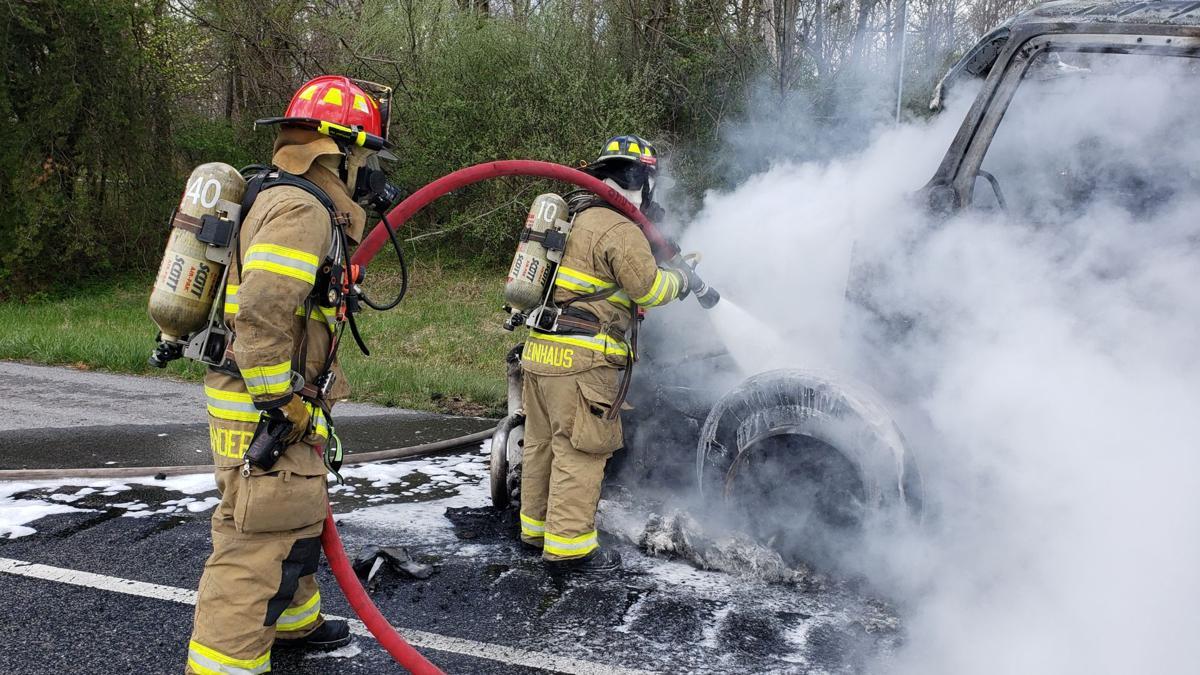 64 W Tractor-Trailer fire