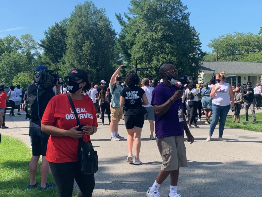 Breonna Taylor protesters in east Louisville on Tuesday, July 14, 2020