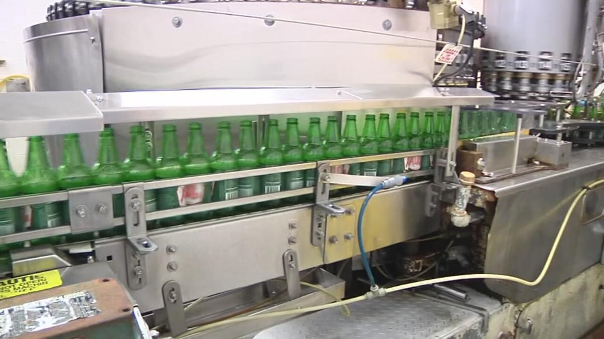 Inside the Ale-8-One factory in Winchester, Kentucky