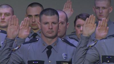 Kentucky State Police cadets are sworn in
