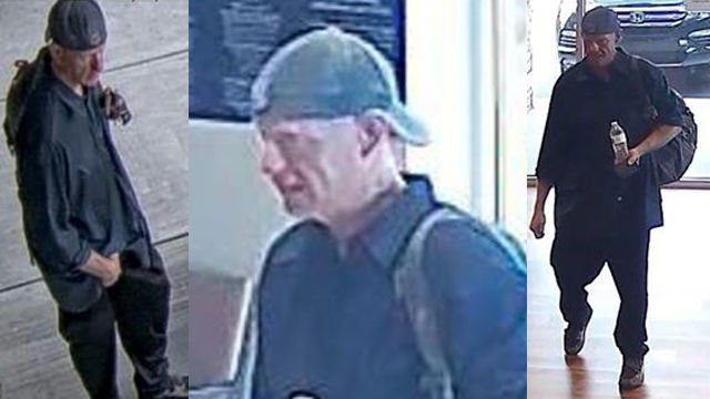 Man seen on Oct. 4 near Commerce Bank just before it was robbed